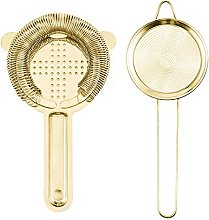 Gold Cocktail Strainer Set Stainless Steel with
