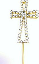 Gold Cross Diamante Crystal Cake Topper Holy