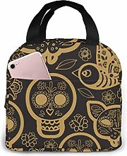 Gold Day of The DEA Insulated Lunch Bag Cooler