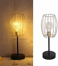 Gold Decorative Table Lamp Battery Operated Metal