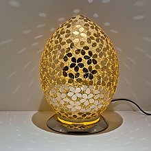 Gold Distressed Gold Mosaic Egg Lamp