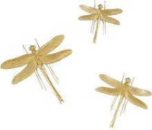 Gold Dragonfly Wall Art (x3)