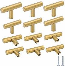Gold Drawer Knobs Brass Cabinet Hardware Knobs 12