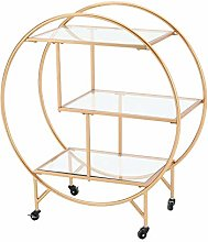 Gold Drinks Trolley Large | 3 Tier Bar Cart on