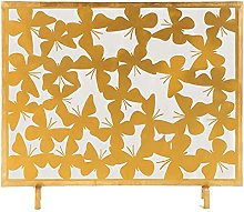 Gold Fireplace Screen for Gas Fireplace, Single