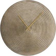 Gold hammered metal clock D71cm