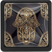 Gold Hamsa 3 Pack Cabinet Drawer Knob Furniture