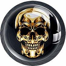 Gold Head Skull Decorative Cabinet Wardrobe