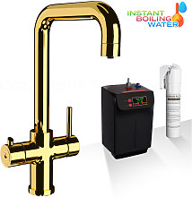 Gold Instant Boiling Water Dispenser Tap 3 in 1