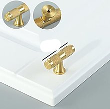 Gold Knurled Kitchen Cabinet Knobs and Handles