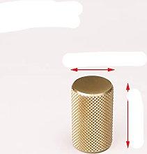 Gold Knurled Textrued Kitchen Cabinet Knobs Black