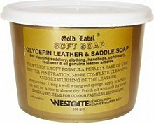 Gold Label Saddle Soap 500gm Glycerin Leather Pony
