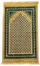 GOLD/LIGHT GREEN Beautiful Turkish Prayer Mat