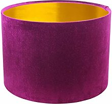 Gold Lined Glamour Fuchsia Pink Velvet Drum