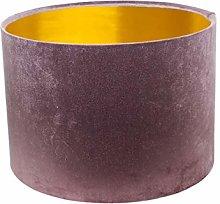 Gold Lined Glamour Mauve Velvet Drum Lampshade (25