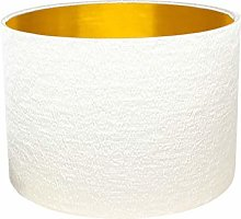 Gold Lined Natural Alchemy Drum Lampshade (20 cm