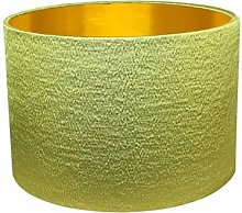 Gold Lined Pampas Green Alchemy Drum Lampshade (20