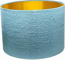 Gold Lined Seafoam Alchemy Drum Lampshade (40 cm