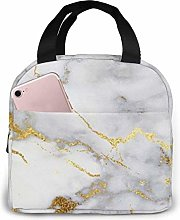 Gold Marble Lunch Bag for Women Girls Kids