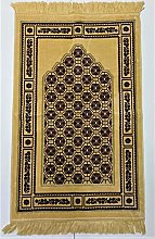 GOLD/MAROON Beautiful Turkish Prayer Mat Janamaz
