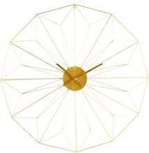 Gold Metal Clock D100