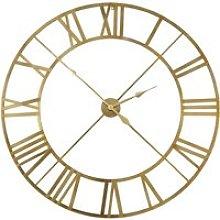 Gold metal clock D122cm
