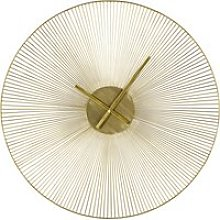 Gold metal wire clock D90cm