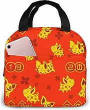 Gold Pig Chinese New Year Lunch Bag Reusable Lunch