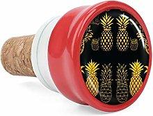 Gold Pineapple Wine Cork Wine Bottle Stoppers