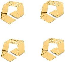 GOLD-PLATED NAPKIN HOLDER SET