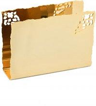 GOLD-PLATED NAPKIN HOLDER