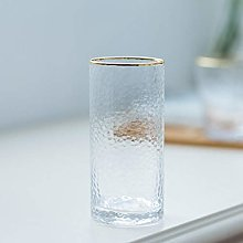 Gold Rim Bathroom Tumblers Toothbrush Holder Cup