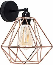 Gold/Rose Gold Wall Light Diamond Cage Vintage