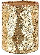 Gold Sequin Storage Basket