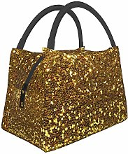 Gold Sequins Lunch Bag Insulated Lunch Tote Cooler