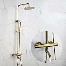 Gold Thermostatic Shower kit for Bathtub Faucet 3