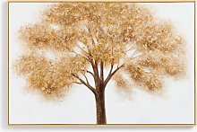 Gold Tree - Hand-Finished Framed Canvas Print, 80
