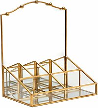 Gold Vanity Makeup Mirror & Jewellery Organiser