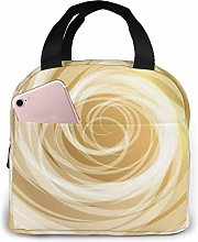 Gold Whirlpool Background Lunch Cooler Bag,