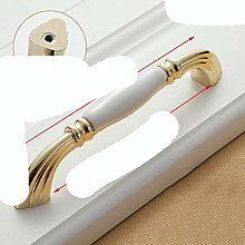 Gold White Creamic Gold Cabinet Handles Knobs