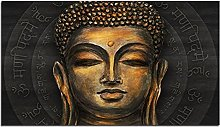 Golden Buddha Lord Abstract Canvas Painting Buddha