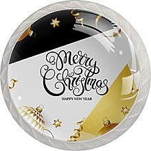 Golden Christmas Ball with Geometric Background (4