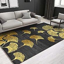 Golden flower ginkgo Area rug modern style rug