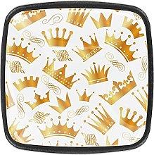 Golden Queen Princess Crowns Pattern Drawer knobs