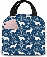 Golden Retriever Floral Navy Reusable Insulated
