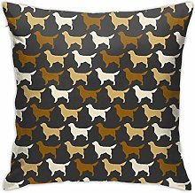 Golden Retriever Silhouette(s) Pillow Cover