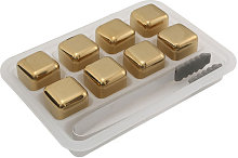 Golden Reusable Stainless Steel Ice Cubes Whisky