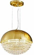 Golden Spherical Crystal Ceiling Light,Luxury