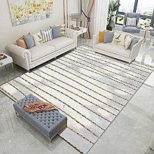 Golden vertical line Area Rug Non Skid Rug,Soft