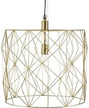 Golden Wire Pendant Light